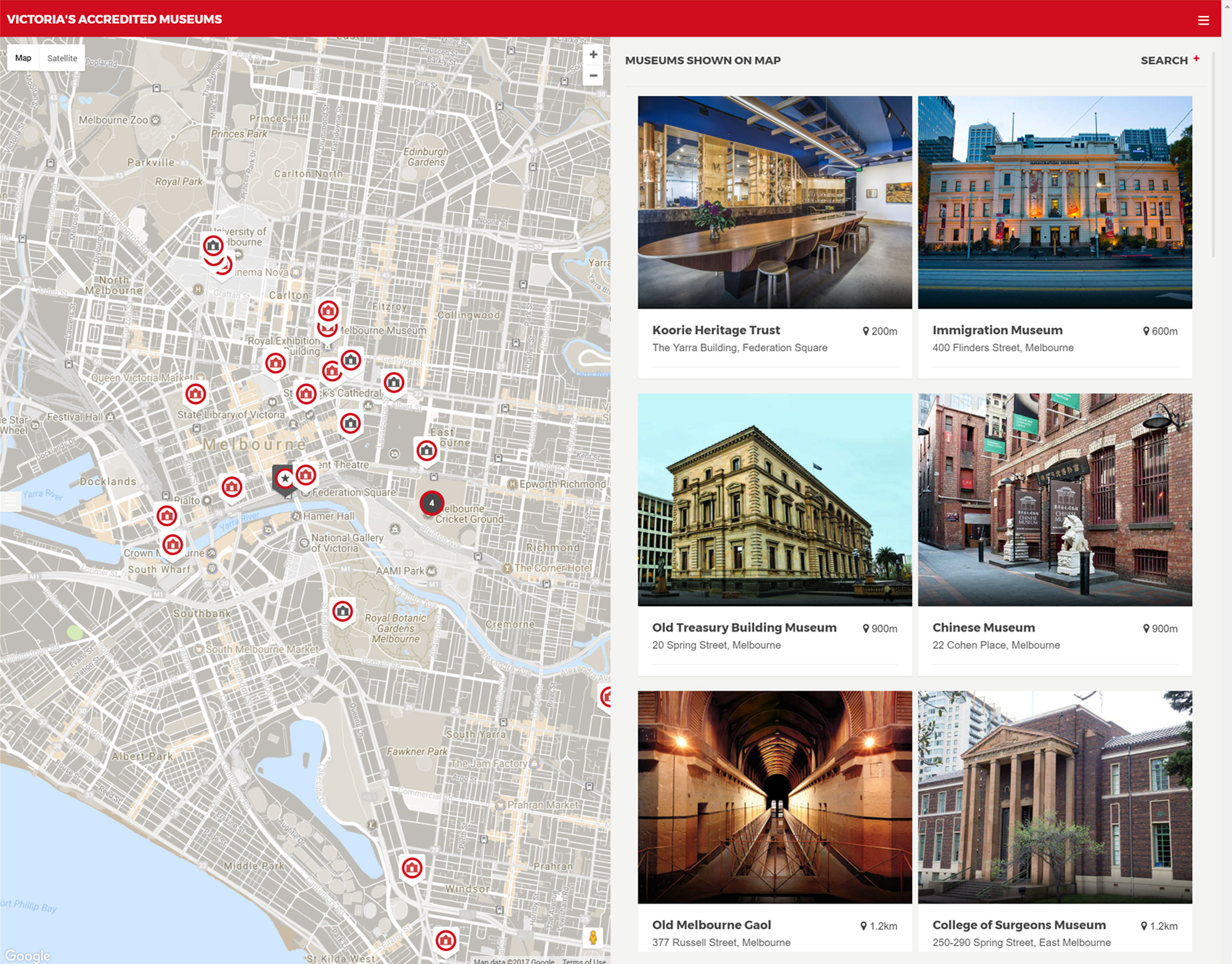 Victoria's Accredited Museums Map